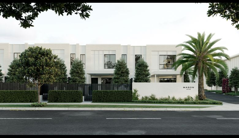 The external facade of the townhomes. Image supplied