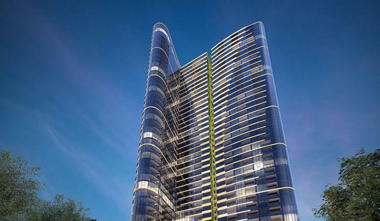 The Fender Katsalidis-designed East Tower at the Melbourne Quarter in Docklands