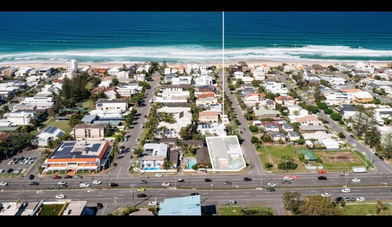 The site sits just 250 metres from Mermaid Beach. Image supplied