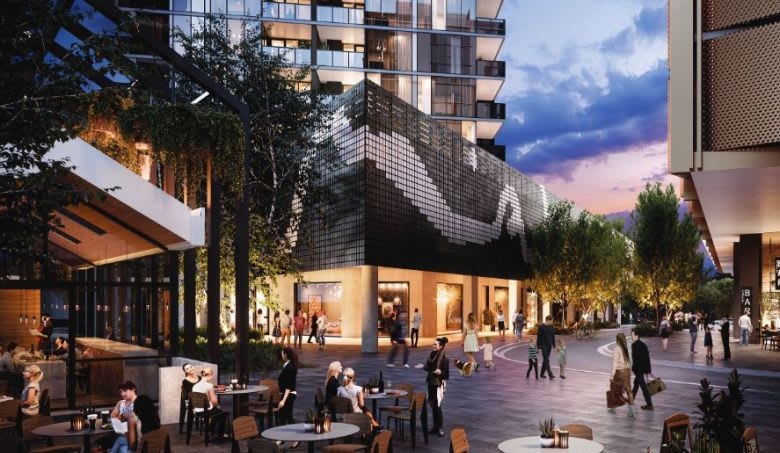 The street-level amenity proposed at Nightfall. Image supplied