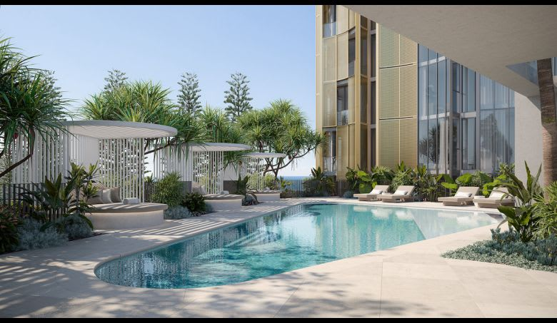 The swimming pool at De-Luxe. Image supplied