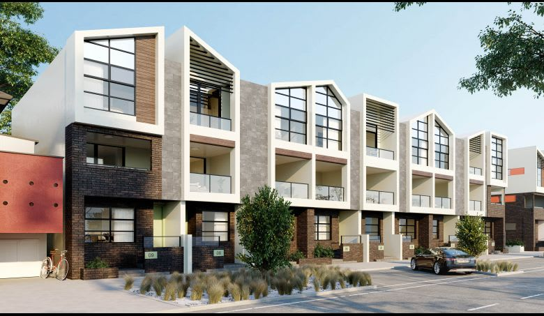 Piper Townhomes at Waterline Place, Williamstown. Image: Supplied