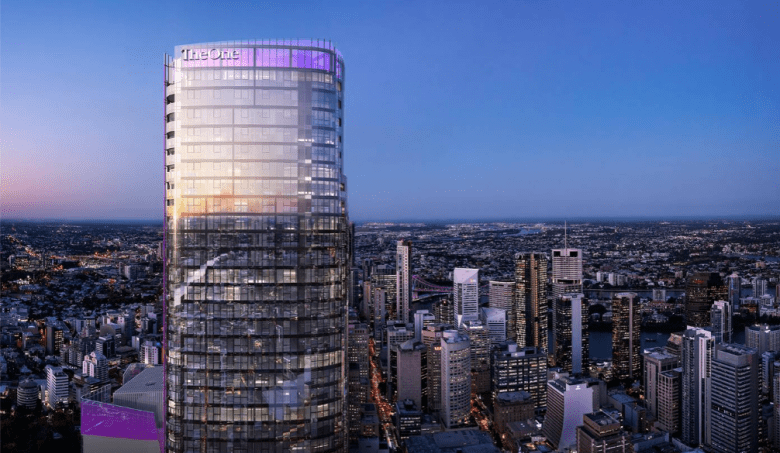 The One Residences tower in Brisbane