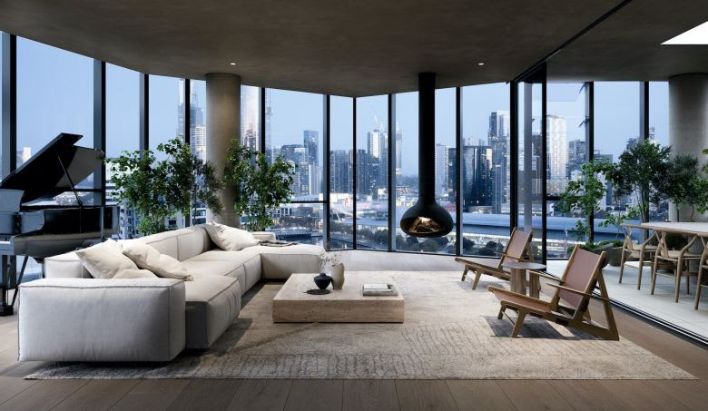 The modern living spaces at Seafarers. Image supplied