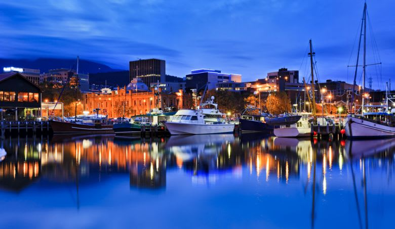 The Hobart marina