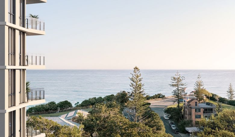 The view from SOL Kirra Beach. Image supplied
