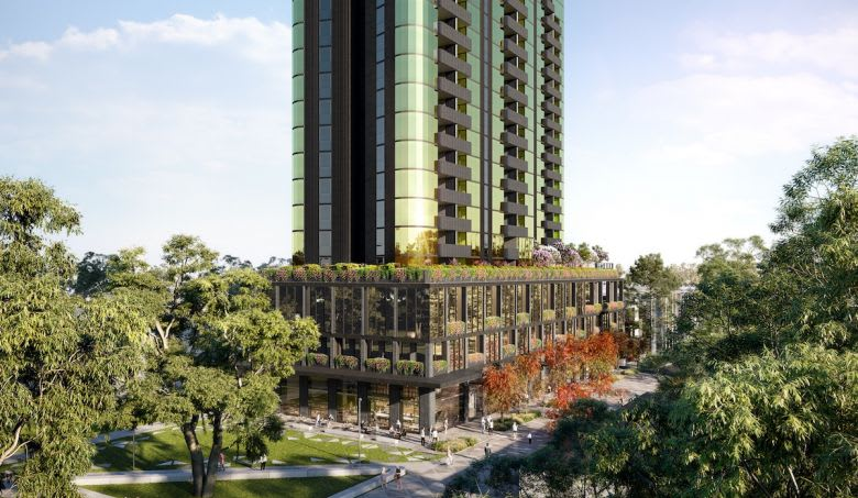 The Spring Street tower, inspired by the surroundings. Image supplied