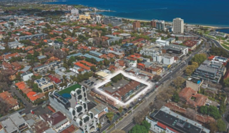 It is being sold with a planning permit for a five level residential project with 54 apartments designed by Cactus Architects
