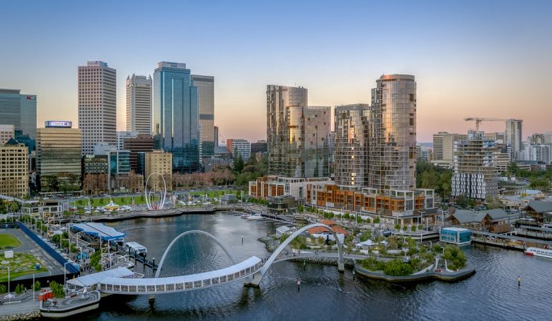 The Towers at Elizabeth Quay, Perth. Image: Supplied