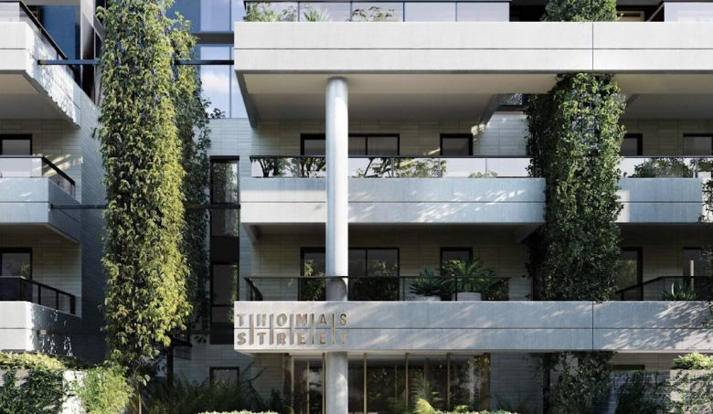 The Thomas St apartment entry. Image supplied