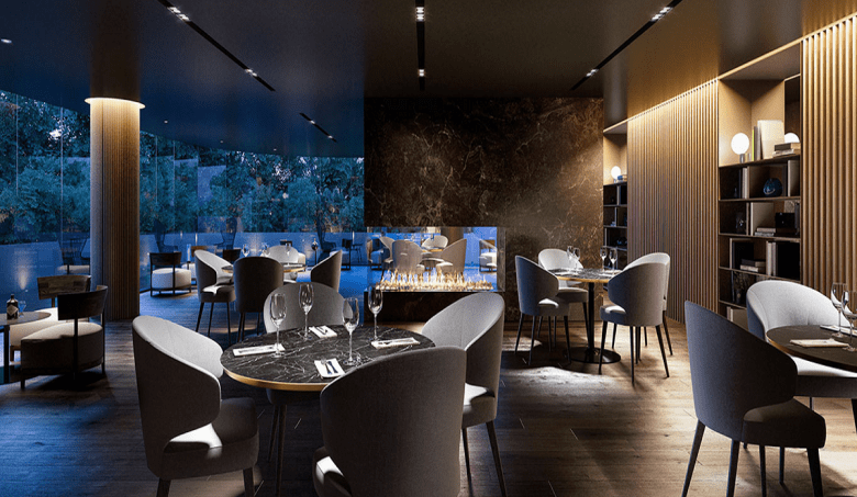 Cafe & Restaurant within Victoriana.