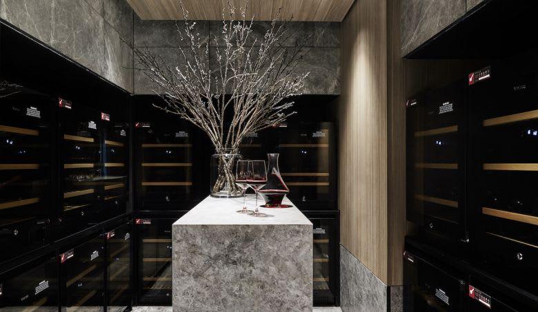 The luxury wine vault. Image credit: Tess Kelly
