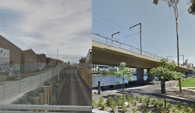 Trenches and elevated rail - Melbourne examples