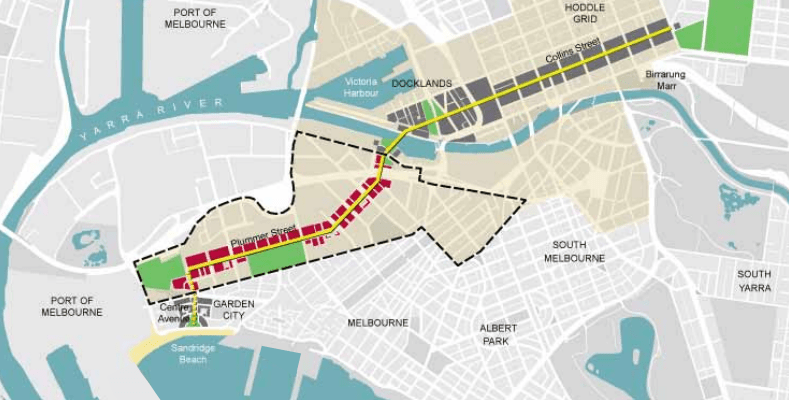 An overview of Fishermans Bend's transport vision