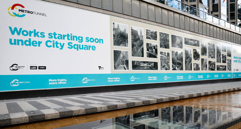 City Square temporarily makes way for Melbourne Metro construction