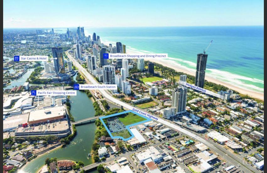 The Mermaid Beach development site. Source: Colliers