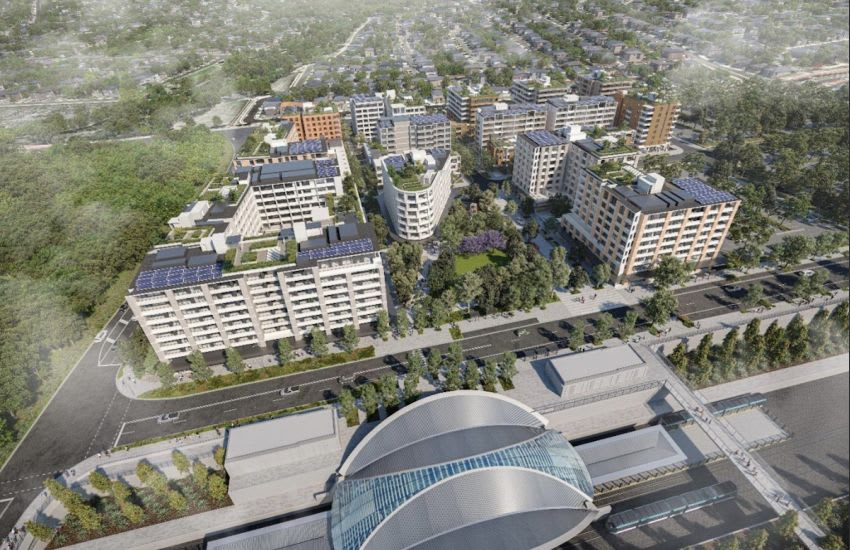 Deicorp's propsoed Tallawong Village. Image supplied