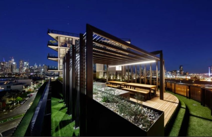Volaire's communal rooftop. Image supplied
