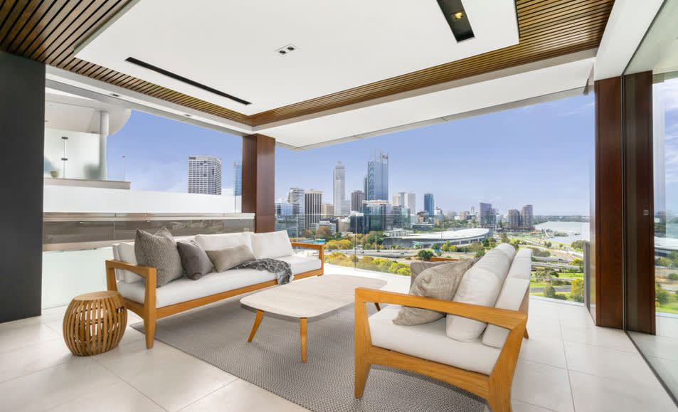 Newly completed Ten Bellevue Terrace in West Perth boasts five sky-high trophy homes