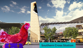Why did the chicken cross the road? To get to the airport - Part One