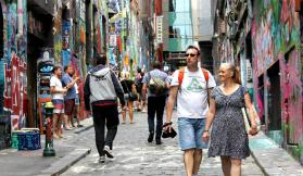 Hosier Lane in the shadows of 2015