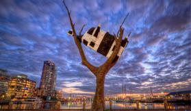 It's as Melbourne as the MCG: it's wind at Docklands