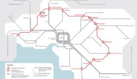 What's happening in the suburbs the Suburban Rail Loop might link?