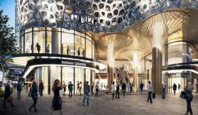 Rendering of the Brisbane Quarter and The One Residences entrance.