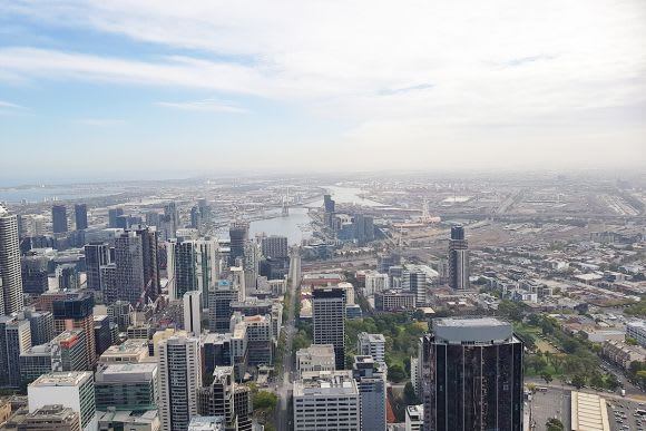Reaching new heights: Melbourne's new tallest building 'Aurora' tops out