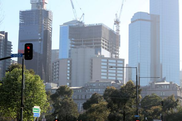 567 Collins Street marks its place in the skyline