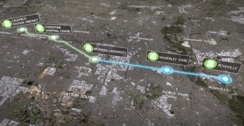 Analysis: the new tram route from Caulfield to Monash University and Rowville