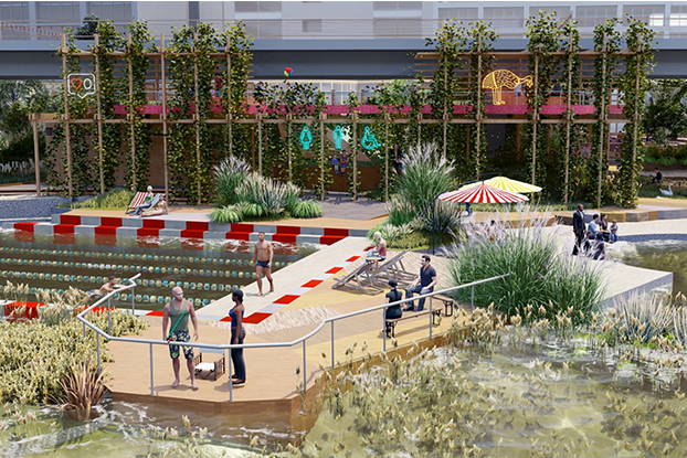 WOWOWA and Yarra Pools unveil public pool proposal for Melbourne's Northbank