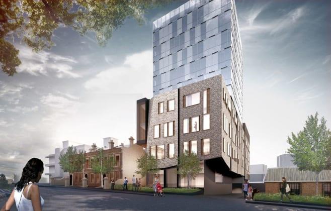 162-198 Clarendon Street, East Melbourne. Planning image: STH/John Wardle