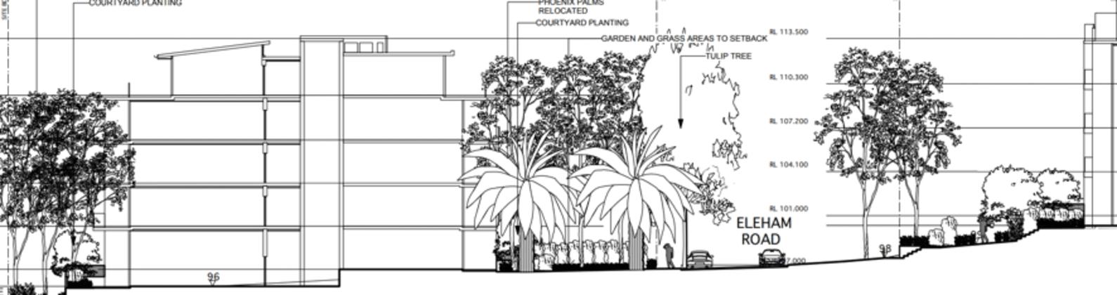 2-8 Eleham Road, Lindfield. Planning Image: PD Mayoh Architect