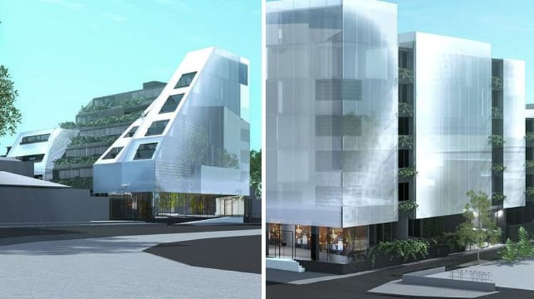 278-282 Kings Way, South Melbourne. Image courtesy Plus Architecture