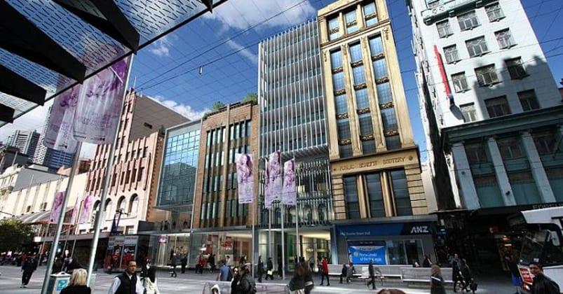309-325 Bourke Street, Melbourne. Image © Artisan Architects