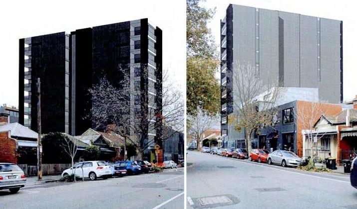 36-38 Kerr Street, Fitzroy. Planning image: David Watson Architects