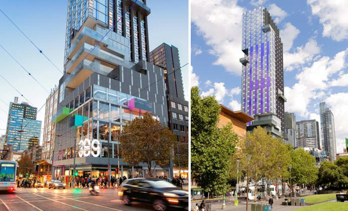 377-391 Swanston Street, Melbourne. Image © MGS