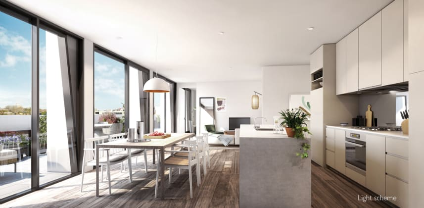 381 Cremorne Living and Kitchen