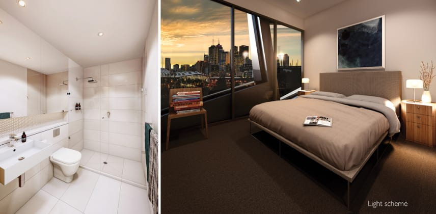 381 Cremorne Bedroom and Bathroom