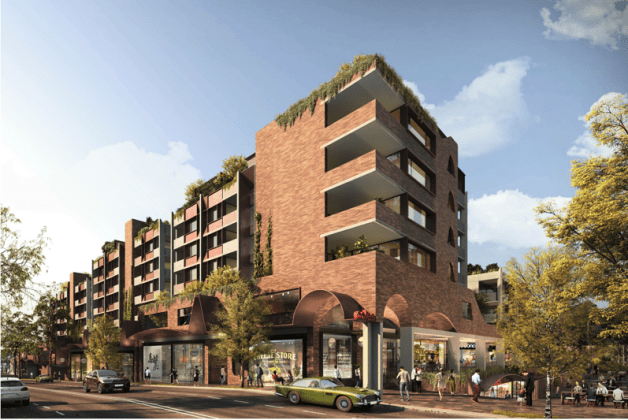 397-399 Cleveland Street, Redfern. Planning Image: SJB Architects