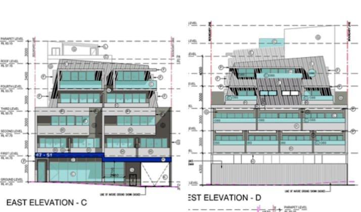 47-51 Rose Street, Essendon. Planning image: Bill Jacobs