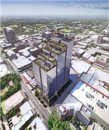 50 Macquarie Street, Parramatta. Planning Image: Crone Architects