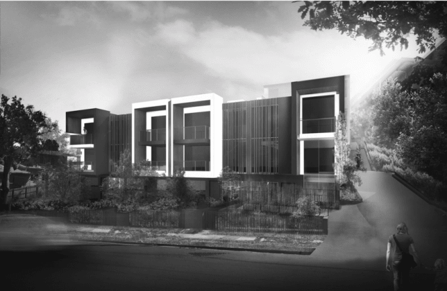 58-62 Gamelin Crescent, Stafford. Image: Plus Architecture