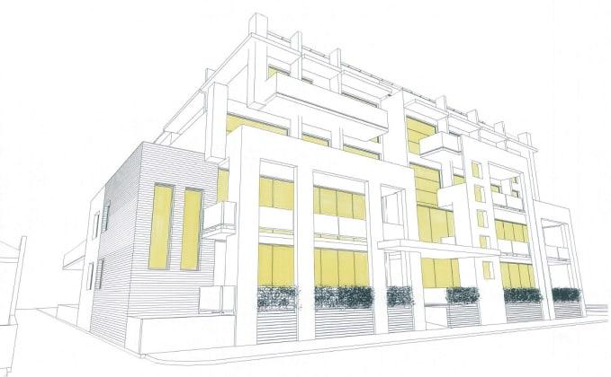 64-66 St Georges Road, Northcote. Image courtesy Petridis Architects