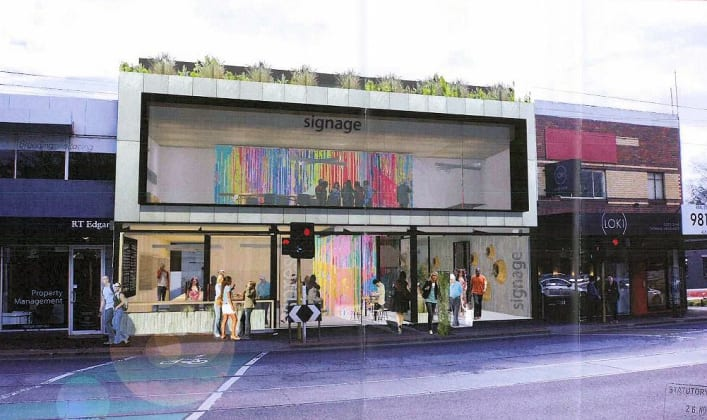 1159-1163 Burke Road, Kew. Planningapplication image: ClarkeHopkinsClarke