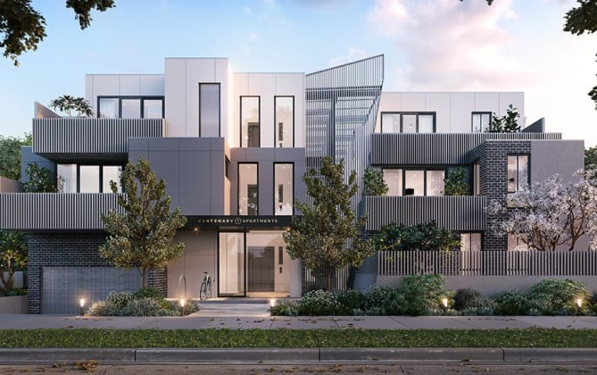 Centenary Apartments - 817 Centre Road, Bentleigh East. Image: Valeo