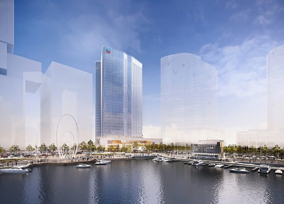 Chevron HQ at Elizabeth Quay. Planning Image: Brookfield