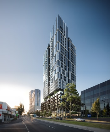 East Central Tower - 820 Whitehorse Road, Box Hill. Image: Long River