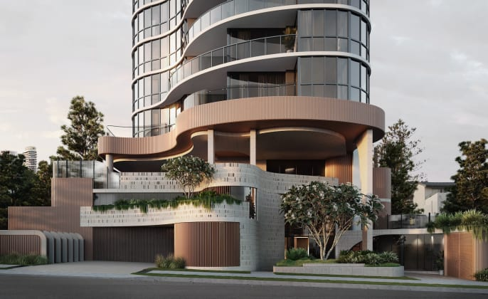 Encore Broadbeach - 22 Albert Avenue, Broadbeach. Image: Andrews Projects